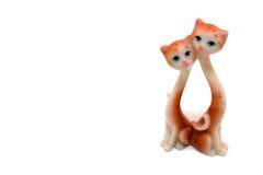 Dois gatos da porcelana Fotografia de Stock Royalty Free