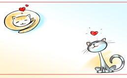 Dois gatos no amor. Imagens de Stock Royalty Free