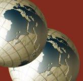 Dois globos ilustração stock