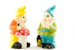 Dois gnomes fotografia de stock