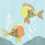 Dois Goldfishes Foto de Stock