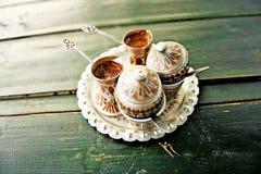 Dois golpe do café bosniano fotografia de stock royalty free