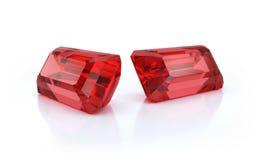 Dois grandes rubis Fotografia de Stock Royalty Free