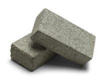 Dois Grey Bricks Imagens de Stock
