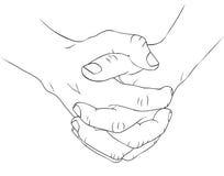 Dois hands1 Fotografia de Stock