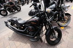Dois Harleys foto de stock