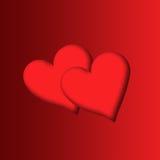 Dois hearts2 Fotografia de Stock Royalty Free