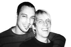 Dois homens Fotografia de Stock