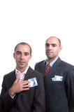 Dois homens com dinheiro Fotos de Stock Royalty Free