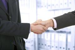 Dois homens de negócio que agitam as mãos Fotos de Stock Royalty Free