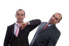 Dois homens de negócio violentos Fotografia de Stock