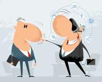 Dois homens de negócios engraçados Imagens de Stock