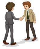 Dois homens de negócios que agitam as mãos ilustração royalty free