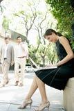 Executivos na rua. imagens de stock royalty free