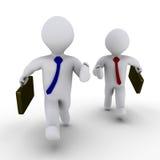 Dois homens de negócios competem Foto de Stock Royalty Free