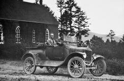 Foto do vintage dos homens no caminhão Foto de Stock Royalty Free