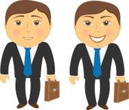 Dois homens nas emoções diferentes tristes e felizes Imagens de Stock Royalty Free