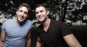Dois homens novos Fotos de Stock Royalty Free