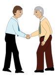 Dois homens que agitam as mãos Imagem de Stock Royalty Free
