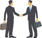 Dois homens que agitam as mãos ilustração do vetor
