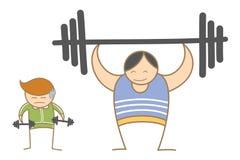Dois homens que elaboram no gym Fotos de Stock