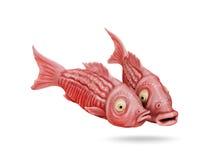 Dois imagem cômica dos desenhos animados 3D dos peixes engraçados Fotografia de Stock