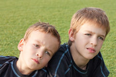 Dois irmãos. Fotografia de Stock
