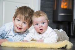Dois irmãos Foto de Stock