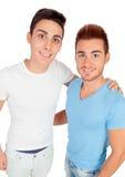 Dois irmãos consideráveis com vestido ocasional Foto de Stock