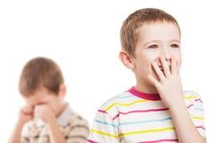 Crianças na discussão do conflito Fotos de Stock Royalty Free