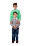 Dois irmãos engraçados Fotografia de Stock