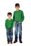 Dois irmãos engraçados Imagens de Stock Royalty Free