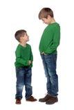 Dois irmãos engraçados Foto de Stock