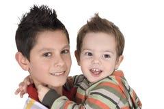 Dois irmãos felizes Foto de Stock Royalty Free