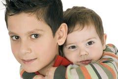 Dois irmãos felizes Fotos de Stock