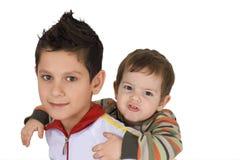 Dois irmãos felizes Imagens de Stock Royalty Free