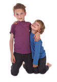 Dois irmãos felizes Imagens de Stock