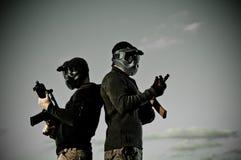 Dois jogadores do airsoft Fotos de Stock