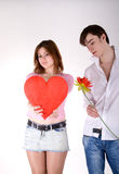 Dois jovens no amor Foto de Stock