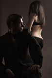Dois jovens no amor Fotos de Stock Royalty Free