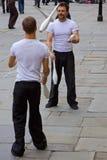 Dois Jugglers no banho Fotos de Stock Royalty Free