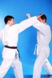 Dois karatekas. Fotografia de Stock