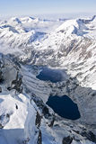 Dois lagos da montanha Fotografia de Stock Royalty Free