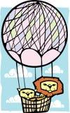 Dois leões em um balão Foto de Stock Royalty Free