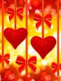 Dois leram corações e curvas Imagens de Stock Royalty Free