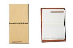 Dois livros abertos no fundo branco Imagens de Stock