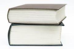 Dois livros empilhados Fotografia de Stock Royalty Free