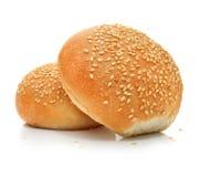 Dois loafs do pão fresco isolados no branco Imagens de Stock Royalty Free