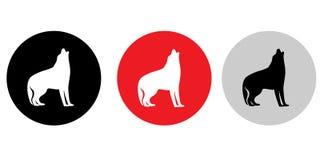 Dois logotipos do cão Fotos de Stock Royalty Free