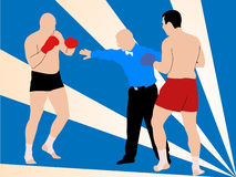 Dois lutadores ilustração do vetor